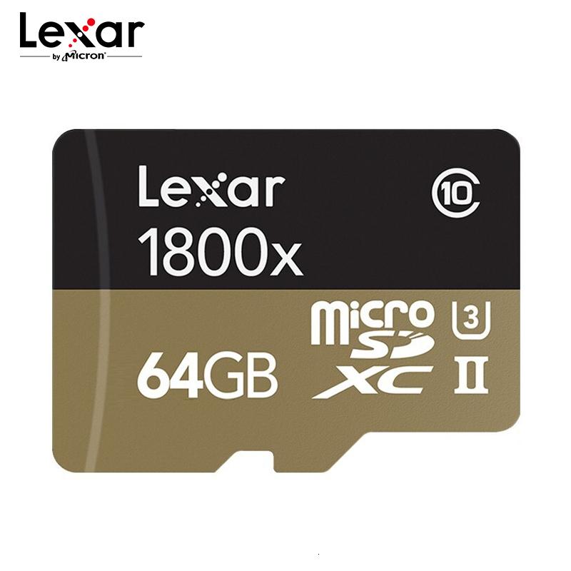 [해외]Lexar professional 1800x 마이크로 sd 카드 UHS-II tf 카드 64 gb 32 gb 최대 270 메가바이트/초 u3 class10 메모리 카드 플래시 카드 (4 k 카메라 용)/Lexar professional 1800