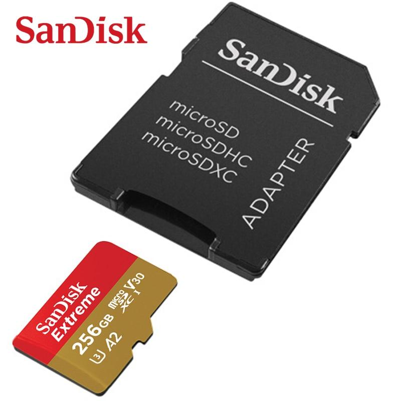 [해외]Sandisk a2 extreme micro sd 카드 64 gb 메모리 카드 128 gb tf 카드 256 gb 160 메가바이트/초 usb 플래시 (스마트 폰용)/Sandisk a2 extreme micro sd 카드 64 gb 메모리 카드