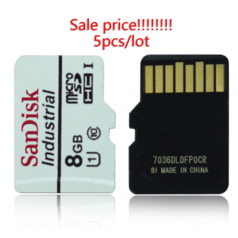 [해외]5 개/몫 sandisk tf 카드 8g 휴대 전화 메모리 카드 산업용 그레이드 microsd 카드 8 gb 운전 레코더 모니터링 카메라 mlc/5 개/몫 sandisk tf 카드 8g 휴대 전화 메모리 카드 산업용 그레이드 microsd 카드