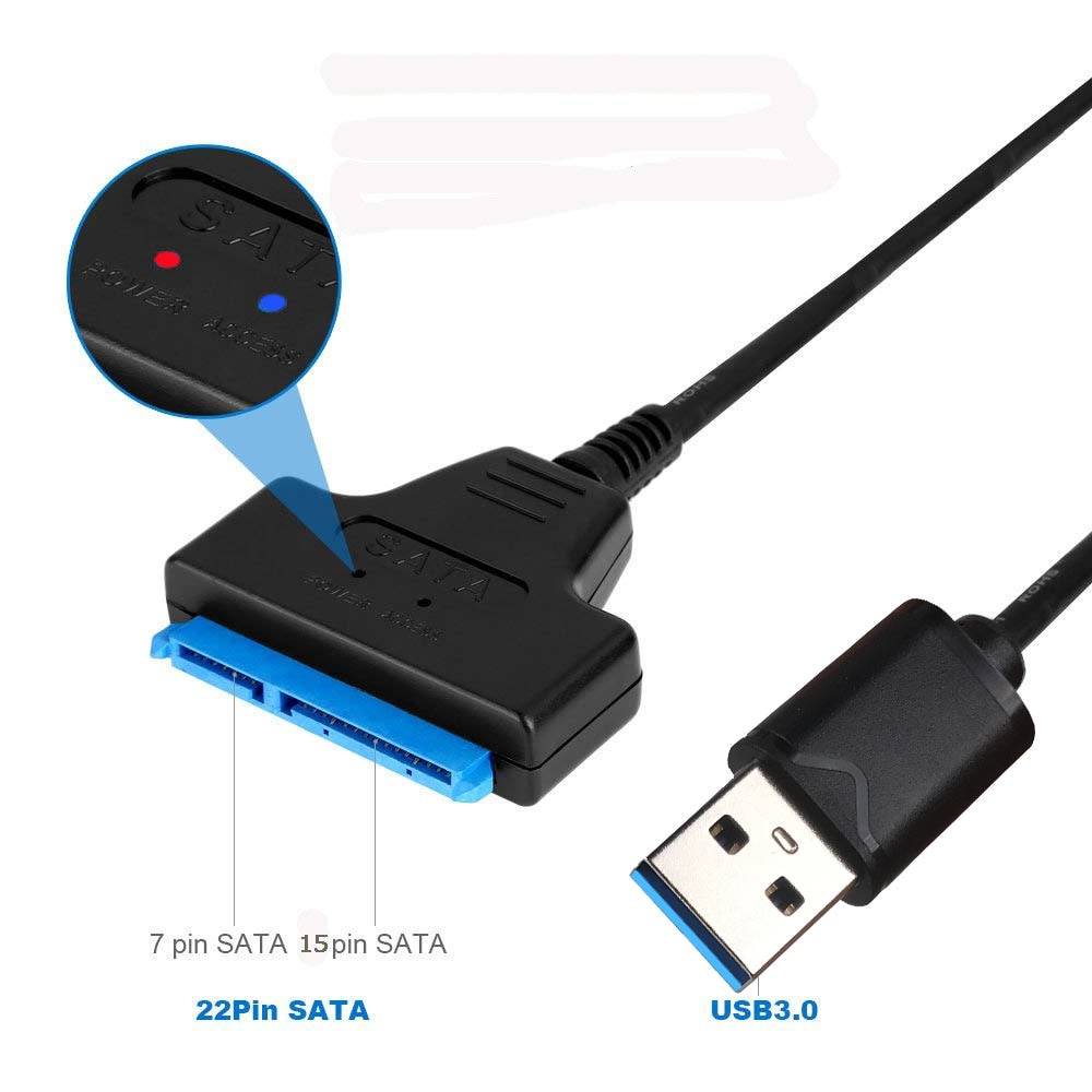 [해외]Ingelon SSD Adapter Sata to usb 3.0 Up to 6 Gbps Support 2.5 Inches 495mm External SSD HDD Hard Drive 22 Pin Sata III Cable/Ingelon SSD Adapter Sa