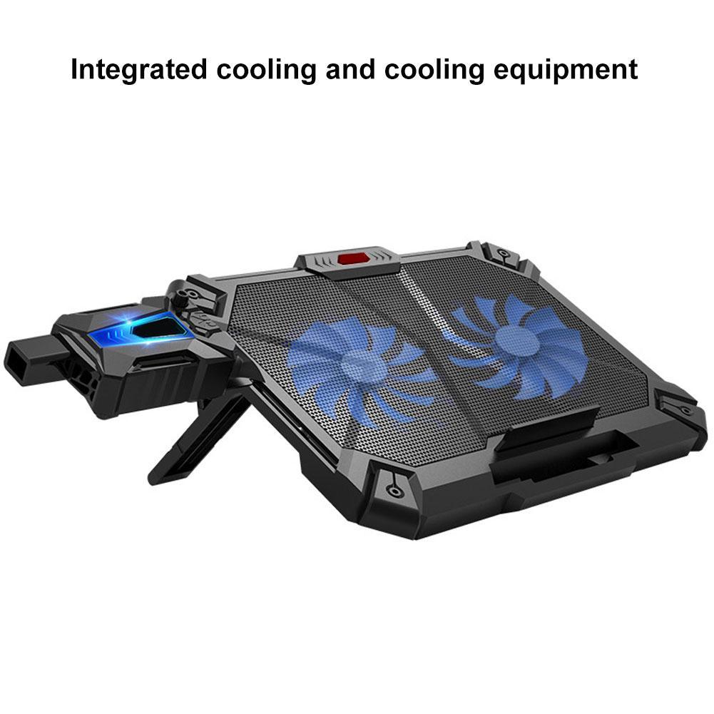 [해외] New Laptop Cooler Mute Cooling 2 Fan Pad  Copmputer  Notebook Adjustable Anti-slip Stand Holder / New Laptop Cooler Mute Cooling 2 Fan Pad  Copmp