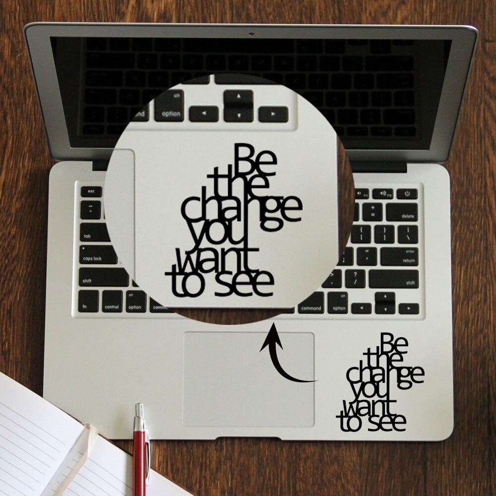 [해외]Gandhi Inspired Quote Laptop Trackpad Sticker for Macbook Decal Pro Air Retina 11 12 13 14 15 inch Vinyl Mac Book Touchpad Skin/Gandhi Inspired Qu