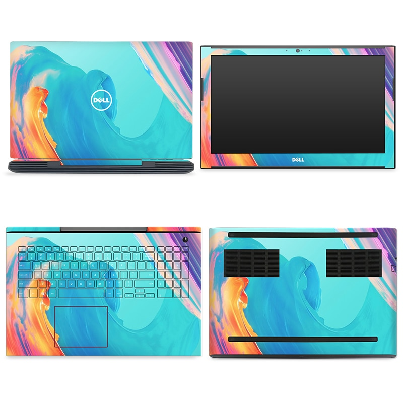 [해외]YCSTICKER - 4pcs/Set Laptop Full Sticker Top Bottom Keyboard Vinyl Decal Cartoon Print For Dell Inspiron 7577 15 Inch Skin/YCSTICKER - 4pcs/Set La