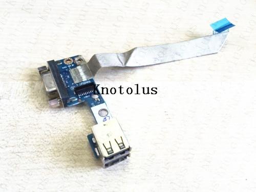 [해외]HP EliteBook 8540p 8540w 트윈 USB VGA 포트 보드 용 KAQ00 LS-4952P/KAQ00 LS-4952P for HP EliteBook 8540p 8540w Twin USB VGA Port Board