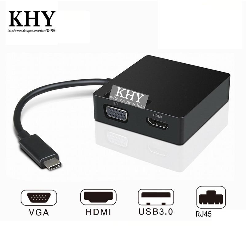 [해외]/original Dock Usb-C Travel Hub L01UD014-CS-R ThinkPad A275 A475 E480 L380 L480 L580 T470 T470S T480 T480S PN SC10M67341 03X7417
