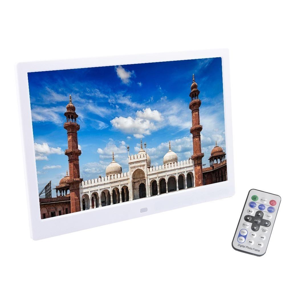 Liedao 12 인치 TFT 스크린 LED 백라이트 HD 1280*800 전체 기능 디지털 사진 프레임 전자 비디오 앨범 음악 좋은 선물