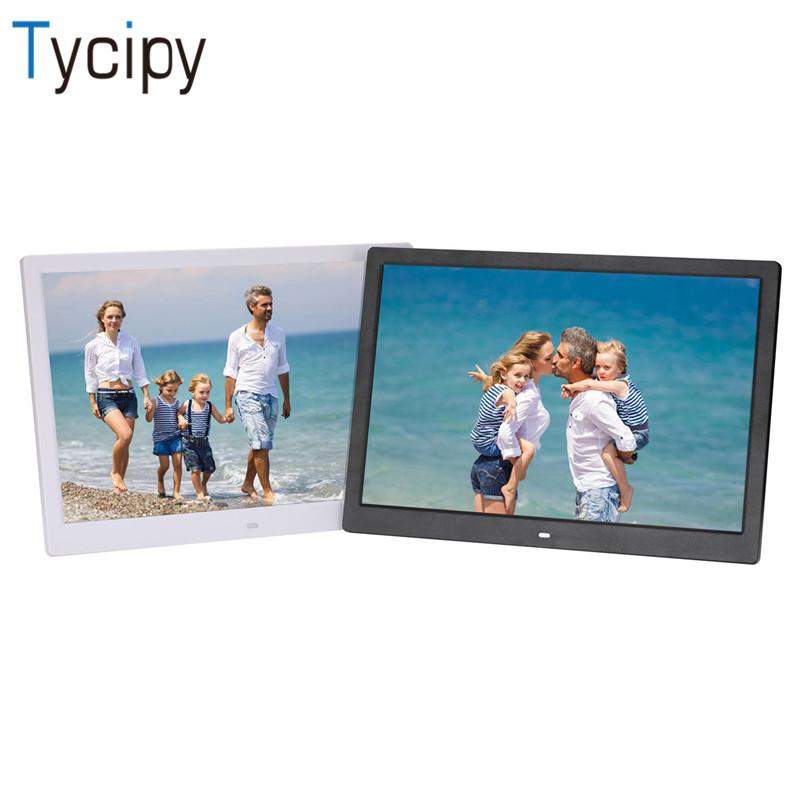 Tycipy 15 inch high-definition touch key digital photo frame electronic album Video MP4 Porta Retrato Digital Alarm Clock MP3 /Tycipy 15 inch high