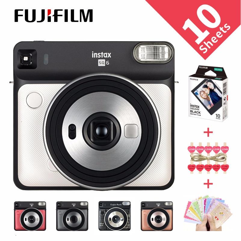 [해외]/5 Colors Fujifilm Instax SQUARE SQ6 Instant Film Photo Camera  Blush Gold  Graphite Gray Pearl White Ruby red