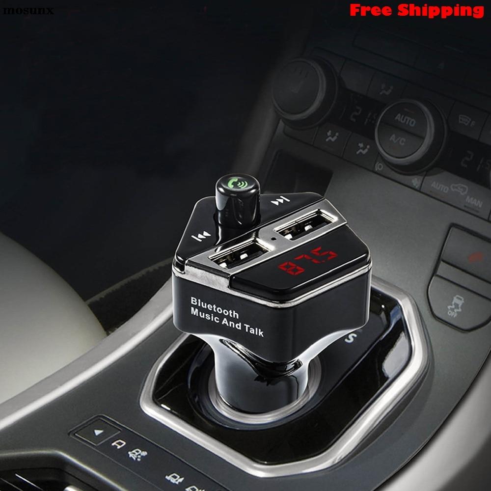 [해외]mosunx 무선 블루투스 차량용 키트 MP3 플레이어 FM 송신기 SD TF 듀얼 USB 충전 자동차 전자 블루투스 자동차 MP3를 자동차 장식/mosunx Wireless Bluetooth Car Kit MP3 Player FM Transmitter SD T