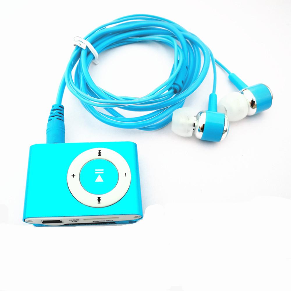[해외]MP3 음악 플레이어 금속 미니 MP3 클립 + 스테레오 이어폰 + Usb 충전 케이블/MP3 Music Player Metal Mini Mp3 Clip + Stereo Earphone+ Usb Charging Cable