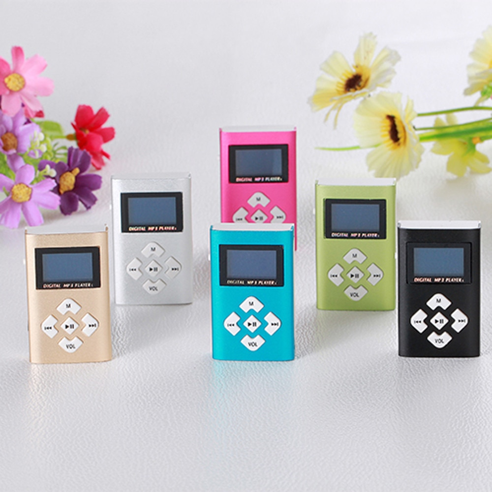 [해외]/2018 new USB Mini MP3 Player LCD Screen Support 8GB Micro SD TF Card music player