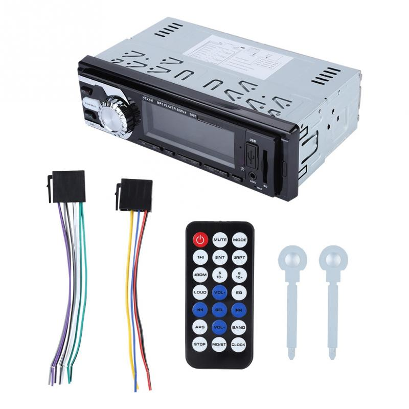 [해외]/HI FI Car Bluetooth AUX Audio Input SD MM Card MP3 PlayerRemote Control New