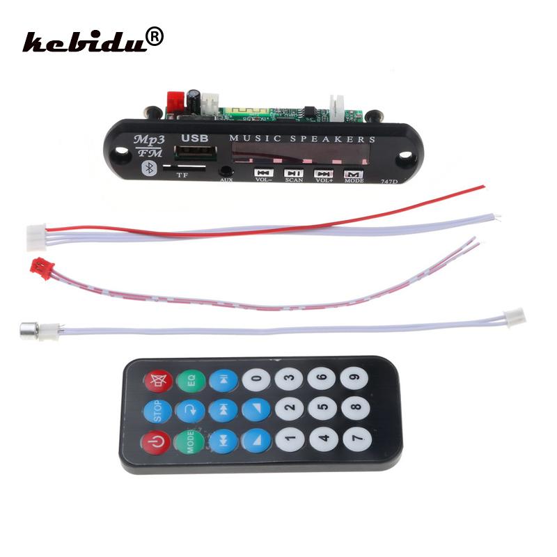 [해외]kebidu Bluetooth MP3 Player Decoder Board FM Radio TF USB 3.5 Mm AUX Audio Handfree Car Kit For Car For Iphone 안드로이드 Phone/kebidu Bluetooth MP3 Pl