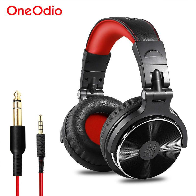 [해외]Oneodio DJ 헤드셋 이어폰 마이크 PC 유선 오버 파이어 Hifi 스튜디오 DJ 헤드폰 전문 스테레오 모니터 Urbanfun/Oneodio DJ Headset EarphoneMicrophone PC Wired Over-ear Hifi Studio DJ H