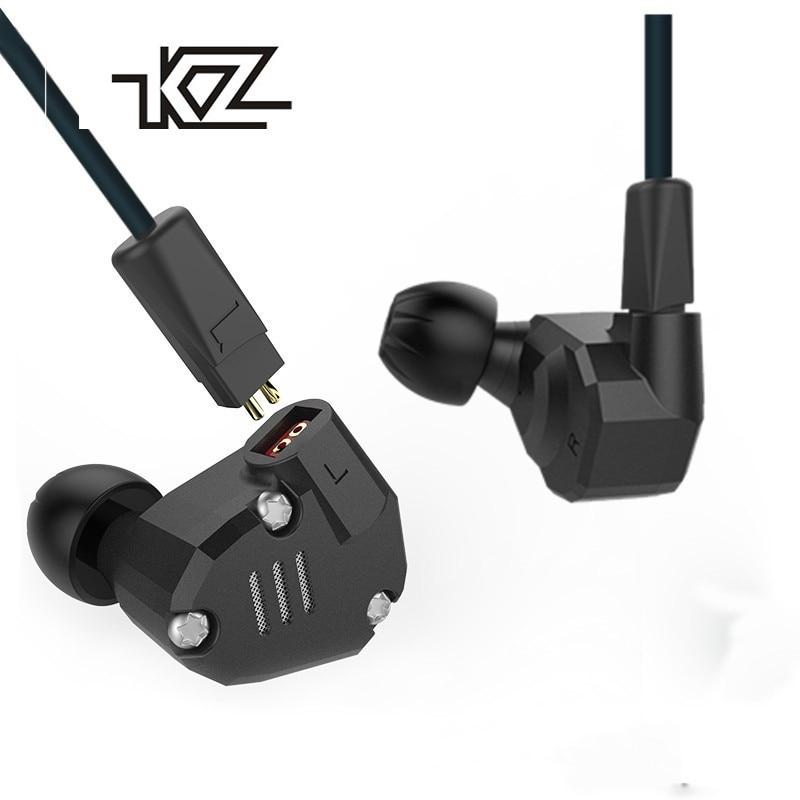 [해외]KZ ZS6 2DD + 2BA 하이브리드 이어폰 Monito 스포츠 블루투스 이어폰 메탈 이어폰 HIFI DJ 헤드셋 이어 버드 KZ ZS5 Pro/KZ ZS6 2DD+2BA Hybrid In Ear Earphone Monito Running Sport blue