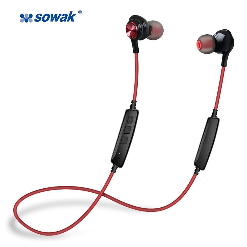 [해외]Sowak 초 저음 IP1 무선 헤드폰 블루투스 4.1 경량 스테레오 이어 버드 AptX IPX5 스포츠 음 성의 방수/Sowak super bass IP1 Wireless Headphones Bluetooth 4.1 Lightweight Stereo Earbu