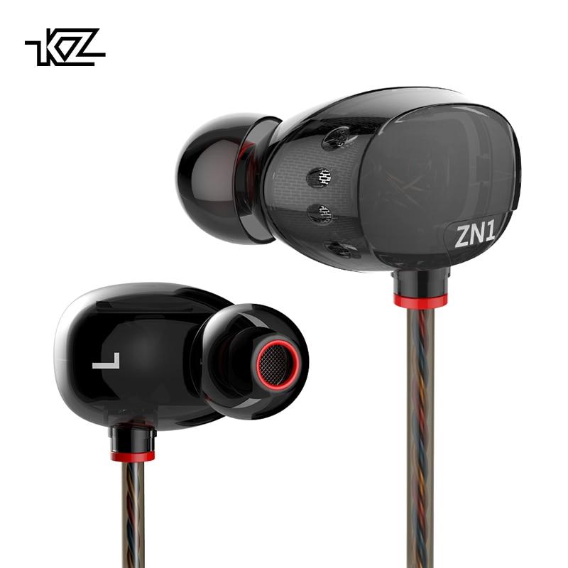 [해외]KZ ZN1 이어폰 3.5mm 이어폰 스포츠 러닝 하이파이 이어폰 슈퍼베이스 잡음 제거 이어 버드 아이팟 용 구리 드라이버/KZ ZN1 Earphones 3.5mm In Ear Earphone Sport Running HIFI Earphone Super Bass