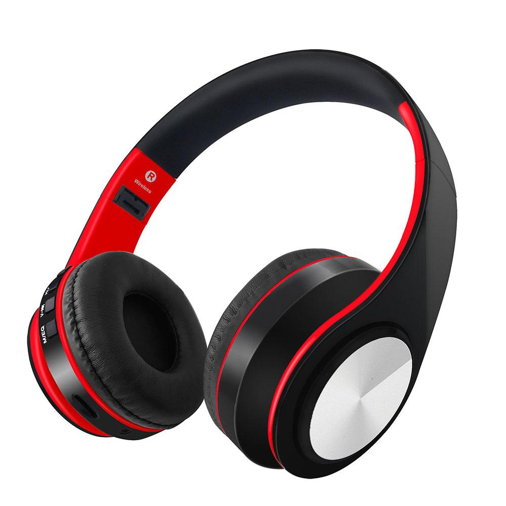 [해외]무선 블루투스 헤드폰 접이식 스테레오 음악 헤드셋 TF 카드 MP3 플레이어 FM 라디오 3.5mm 유선 이어폰 핸즈프리 / 마이크/Wireless Bluetooth Headphones Foldable Stereo Music Headsets TF Card MP3