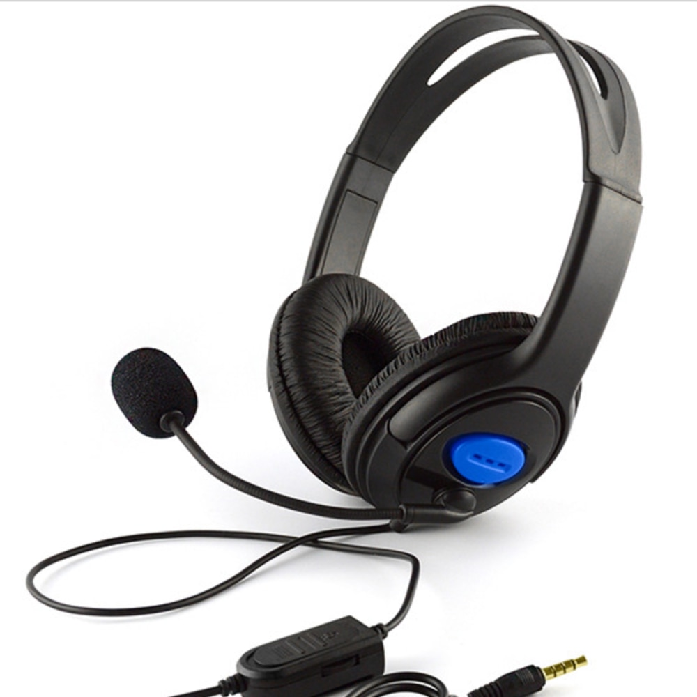 [해외]/3.5mm Wired Game Headphones Gaming Headset Stereo Bass EarphoneMicrophone Volume Control For PC Laptop PS4 Smart Phone