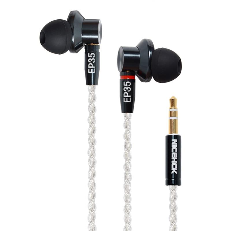 [해외]/NICEHCK EP35 In Ear Earphone Single Dynamic Drive HIFI Metal High Resolution Monitor Headset Detachable MMCX Cable Versus E700M