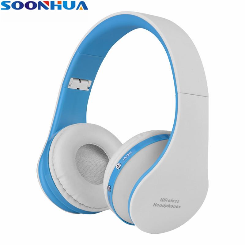 [해외]/SOONHUA Portable Wireless Bluetooth V4.0 Headset Foldable Soft Ear Cushion Headphone Super Bass Stereo Handsfree Gaming Earphone
