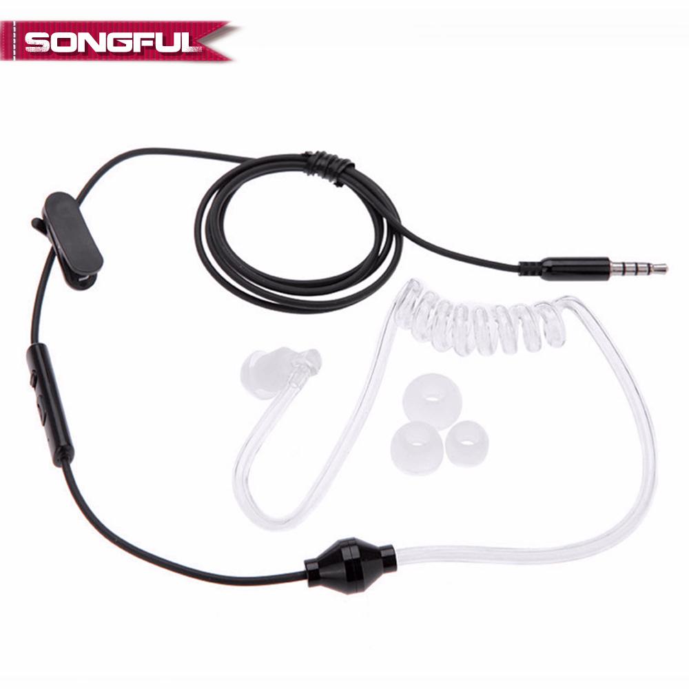 [해외]Acoustic Radiation Protection Anti-Radiation FBI Headphones Air Tube Handsfree EarphoneMicrophone Volume Control Ear Hook/Acoustic Radiation Prote