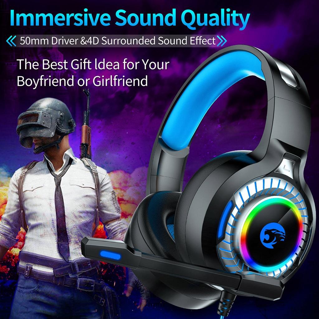 [해외]USB 3.5mm Surround Stereo Gaming Headset Headband HeadphoneMic For PC Hot 3D surround bass Independent sound card 7.01/USB 3.5mm Surround Stereo G