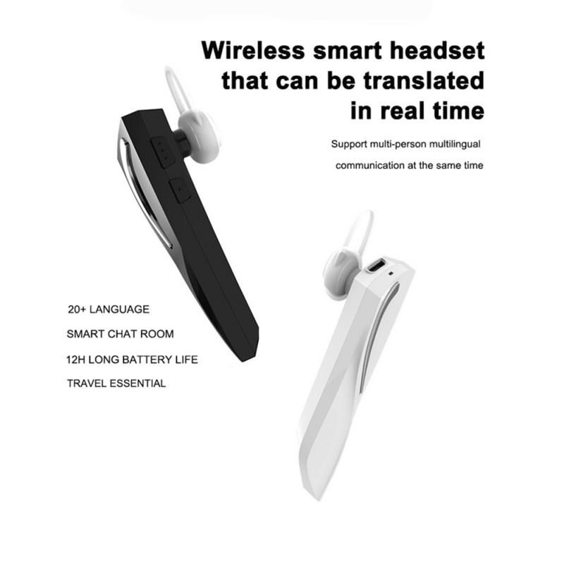 [해외]Translator Bluetooth 5.0 Earphones Portable Business Earphone Translator In Ear Wireless Multi-Language  Earphones/Translator Bluetooth 5.0 Earpho