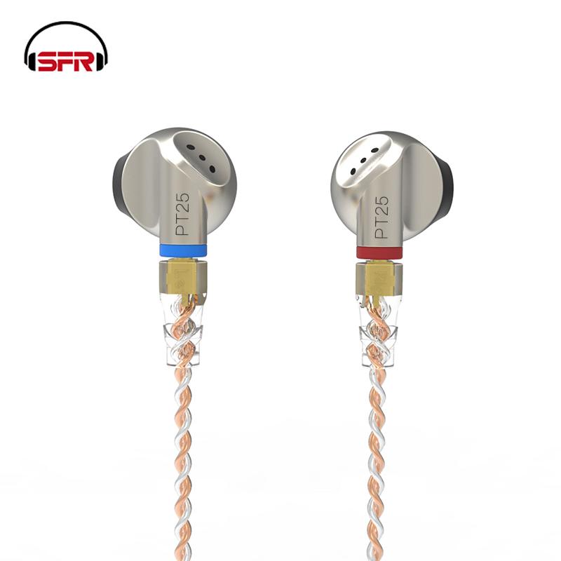 [해외]SENFER PT25 Graphene Dynamic Earphone In Ear Stereo Ear Bud HI FI Headset MMCX Detachable Cable Metal DJ Headphones 3.5mm Jack/SENFER PT25 Graphen