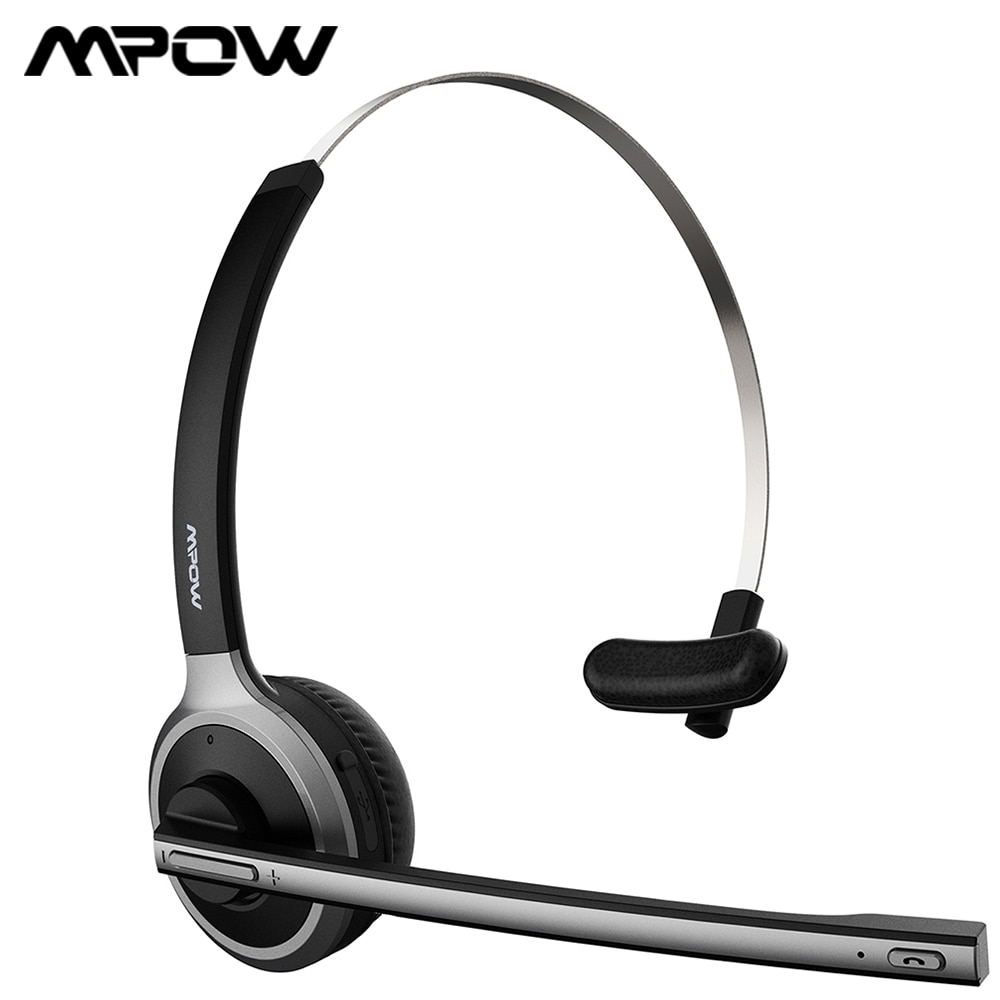 [해외]Mpow M5 Bluetooth Headset Wireless Headphone 13H Talking Time EarphoneNoise Cancelling Microphone For Call Center PC Phone/Mpow M5 Bluetooth Heads