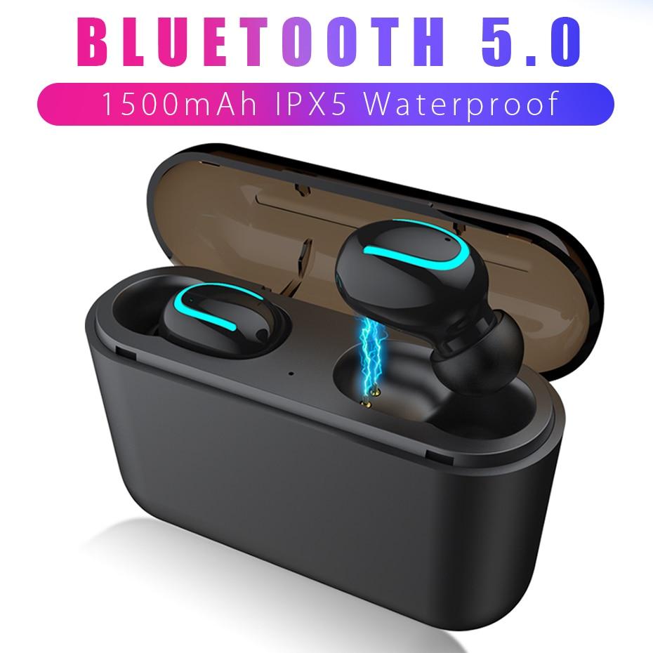 [해외]ANBES Bluetooth 5.0 Earphone TWS Wireless Headphones Sports Earbuds HBQ Q32 Headset Mini Gaming Cordless Headphone PK i10/ANBES Bluetooth 5.0 Earp