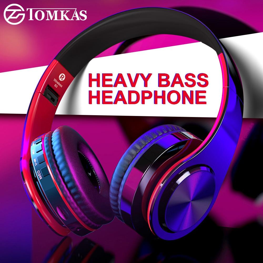 [해외]TOMKAS Bluetooth Headphones Wireless Stereo Earphones Foldable Headsets Adjustable EarbudsMic/TF Card ForMicrophone/TOMKAS Bluetooth Headphones Wi