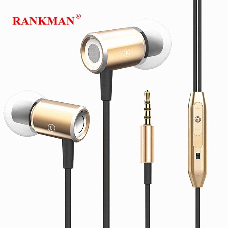 [해외]Rankman Stereo Magnetic Earphones Bass Sport Earbuds Wired In Ear EarphonesMic for phones MP3 PC/Rankman Stereo Magnetic Earphones Bass Sport Earb