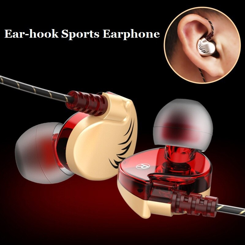 [해외]Andevis Sports Earphone Ear Hook Super Bass Hifi Stereo Music HeadsetMicrophone Earphone for Mobile Phone MP3 Player PC/Andevis Sports Earphone Ea