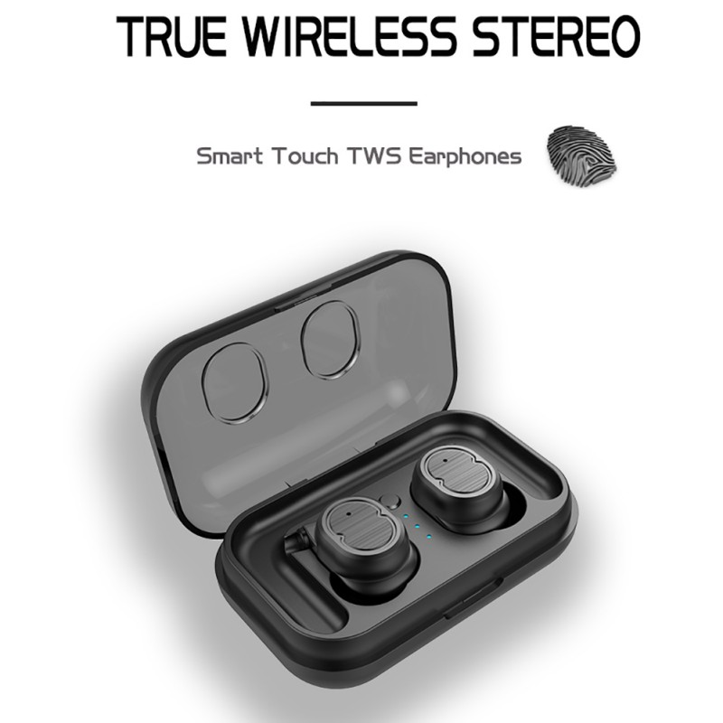 [해외]Touch Control TWS Bluetooth 5.0 Earphone Wireless Earbuds Invisible Sports Running Bluetooth Headset Wreless Earbuds/Touch Control TWS Bluetooth 5