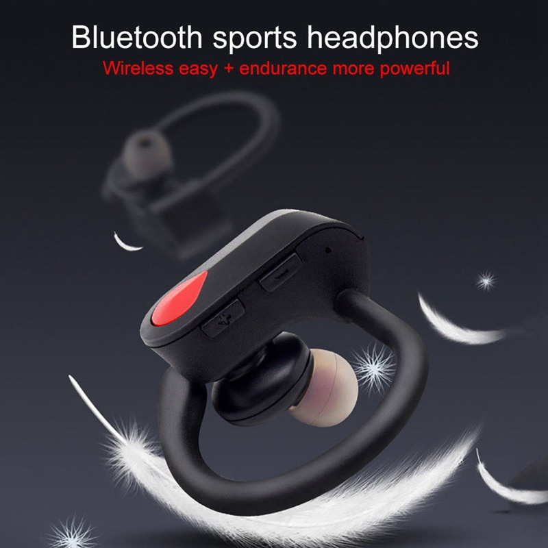 [해외]HIFI Sound Quality Noise Reduction Optimized Power Display Sports Waterproof Headphones SD Bluetooth 4.2 Wireless Headset/HIFI Sound Quality Noise