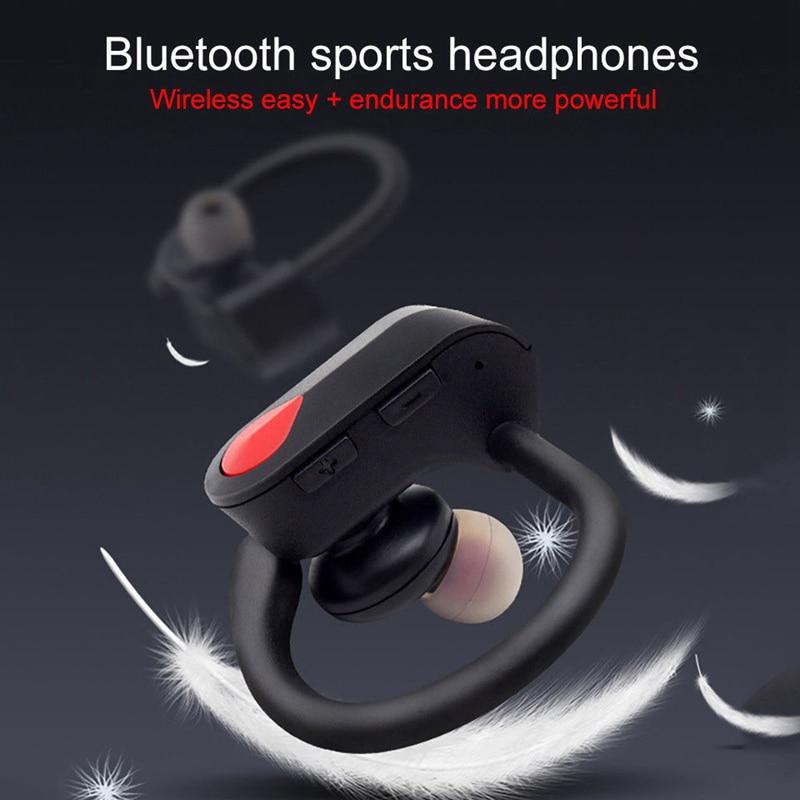 [해외]HIFI Sound Quality Noise Reduction Optimized Power Display Sports Waterproof Headphones SD Bluetooth 4.2 Wireless Headset/HIFI Sound Quality Noise