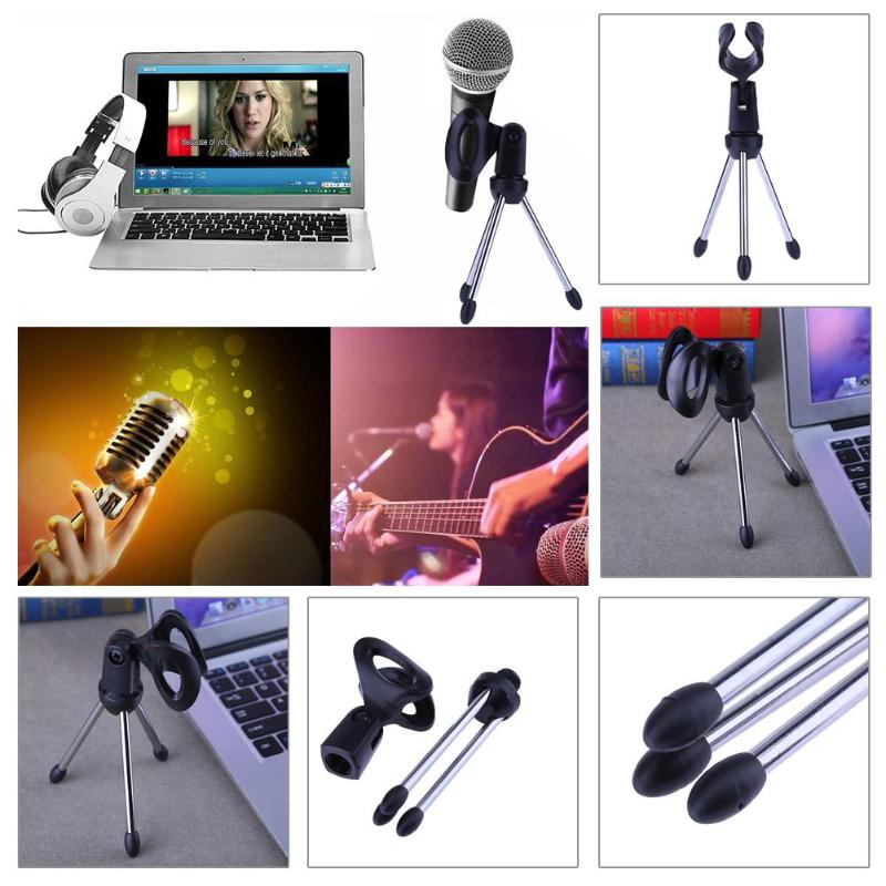 [해외]Alloyseed Mini Portable Table Tops Microphone Tripod Zinc Alloy Mic Stand Bracket Desktop Adjustable Microphones Tripods Holder/Alloyseed Mini Por