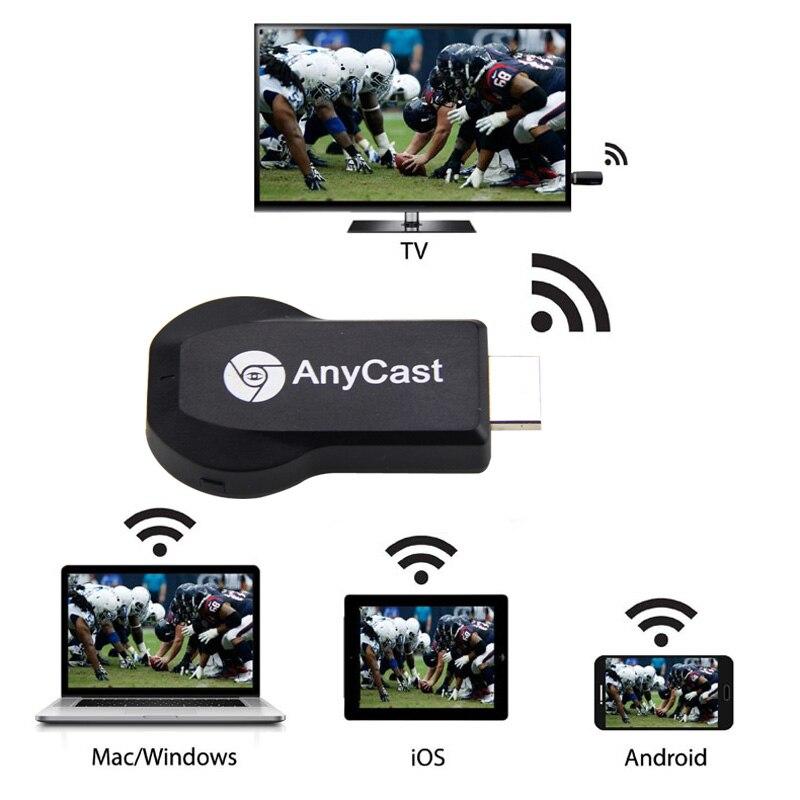 [해외]핫 hd 1080 p anycast m2 plus airplay wifi 디스플레이 tv 동글 수신기 dlna 쉬운 공유 미니 tv 스틱 for 안드로이드 ios windows bus/핫 hd 1080 p anycast m2 plus airpl