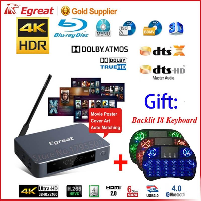 [해외]Egreat a5 hdr 블루 레이 하드 디스크 플레이어가 장착 된 4 k uhd 미디어 플레이어 iso 재생 탐색 메뉴 안드로이드 5.1 tv box spt dolby BD-ISO/Egreat a5 hdr 블루 레이 하드 디스크 플레이어가 장