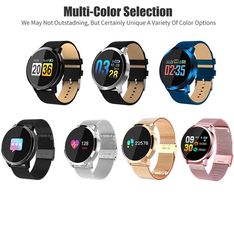 [해외]Original Q8 Smart Watch OLED Color Screen Heart Rate Monitor Blood Pressure Oxygen IP67 Pedometer Fun Game Sport Fitness Watches/Original Q8 Smart