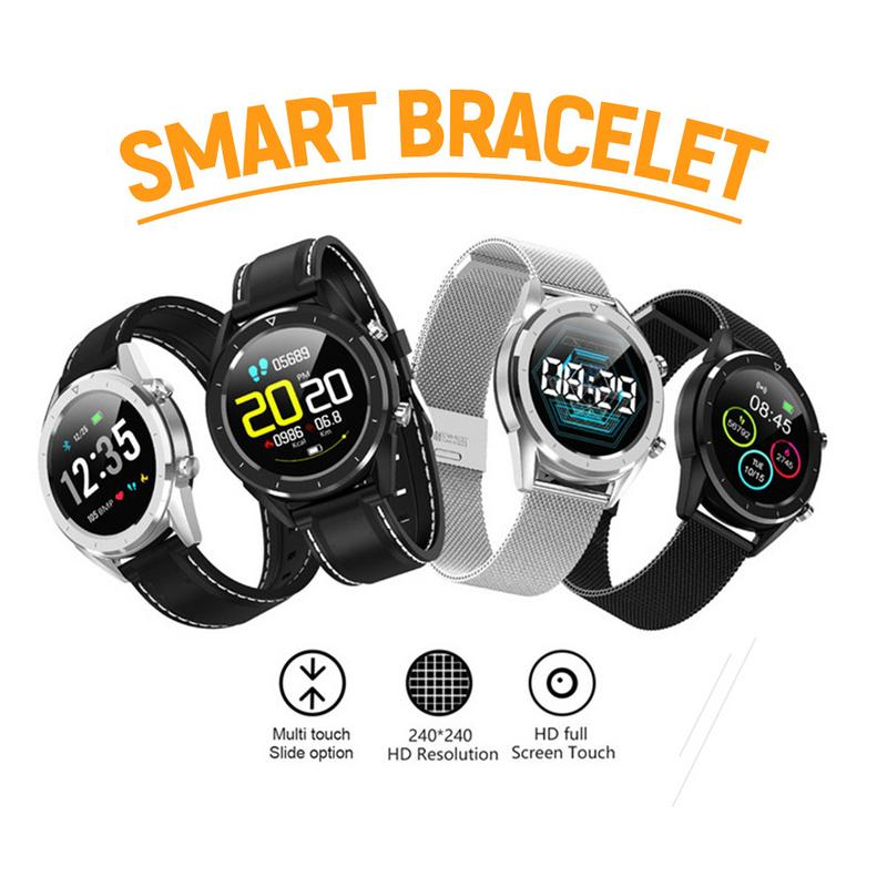 [해외]Smart Watch 1.54 Inch Color Screen Blood Pressure Multi-Sport Mode Heart Rate ECG Monitoring IP68 Waterproof For IOS 안드로이드/Smart Watch 1.54 Inch C