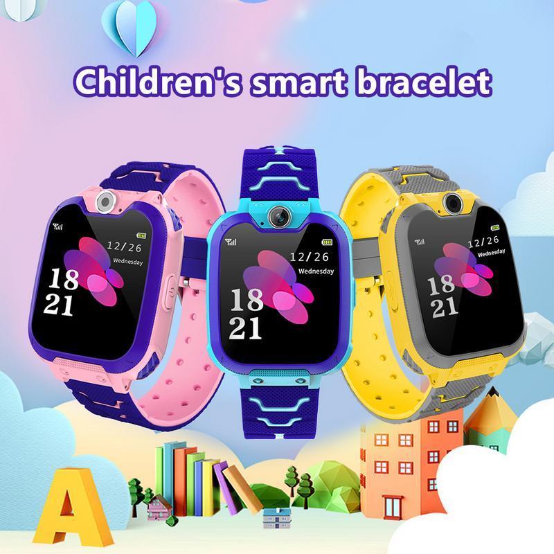 [해외] Children`s Smart Bracelet Wristband TrackerAlarm Clock Location Tracking Function Indoor Outdoor Temperature Reminders/ Children`s Smart Bracelet