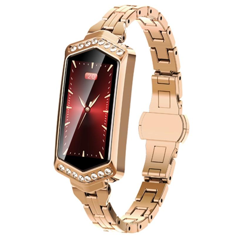 [해외]Elegant smart bracelet connected woman watch heart rate monitor fitness tracker for iphone pedometer bracelet in Russian spain/Elegant smart brace