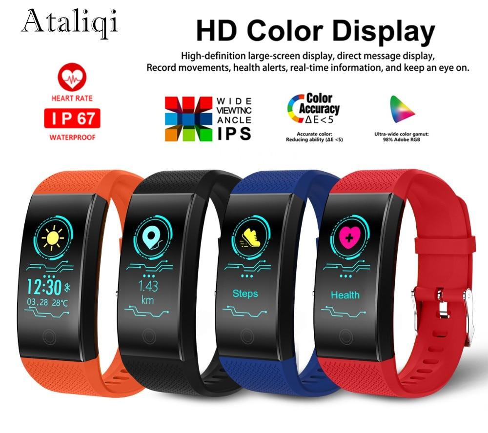 [해외]Ataliqi Smart Wristband Heart Rate Monitor Blood Pressure Band Pedometer Activity Fitness Tracker Sleep Monitor Sport Bracelet/Ataliqi Smart Wrist