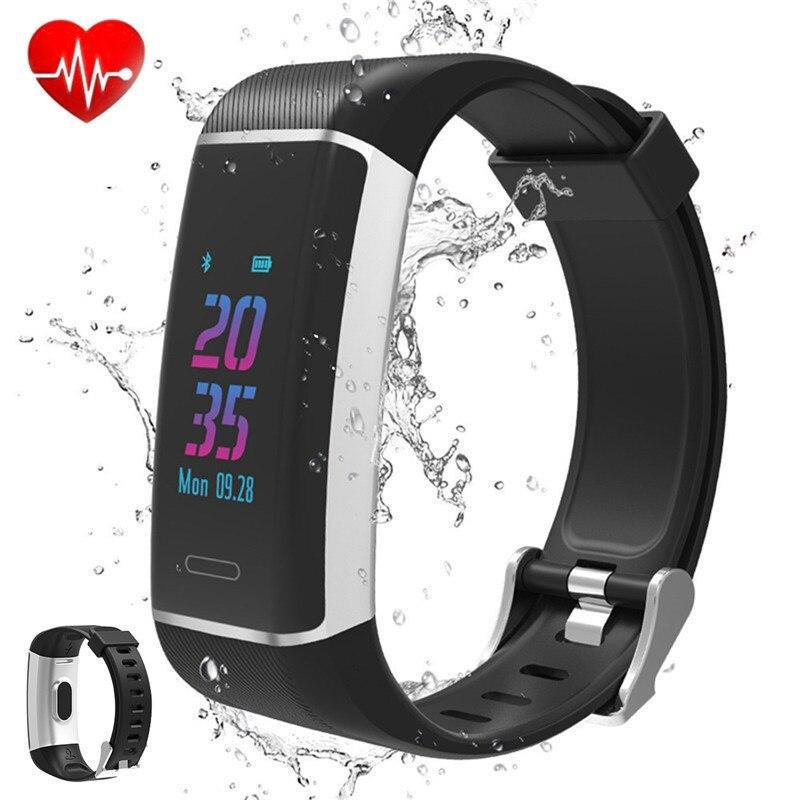 [해외]SOONHUA  Smart Wristband IP67 Waterproof USB Bracelet Activity Heart Rate Sleep DetectionGreen Dynamic Sensor/SOONHUA  Smart Wristband IP67 Waterp