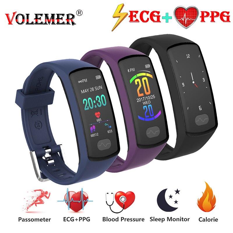 [해외]Volemer Smart Band Heart Rate Monitor Smart Wristband ECG/PPG Blood Pressure Smart Watch for IOS 안드로이드 Phone Fitness Bracelet/Volemer Smart Band H