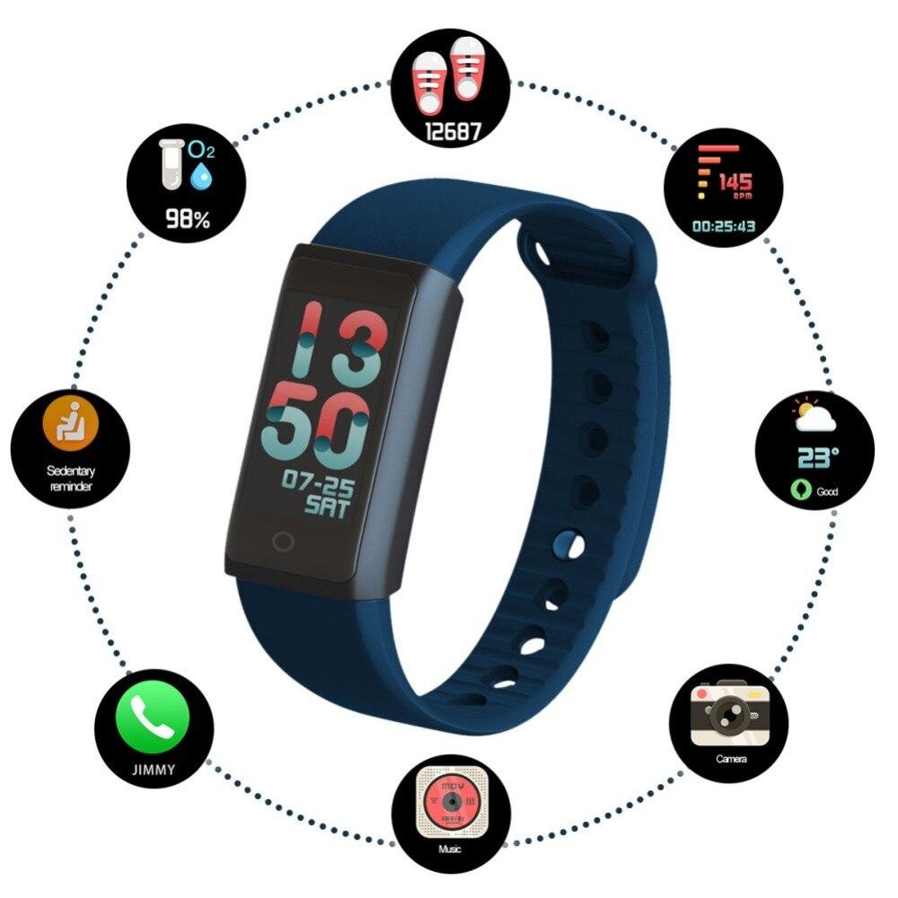 [해외]0.96inch Colorful Screen Smart Wristband Removable Strap Watch Outdoor Sport Bracelet Heart Rate Tracker Bluetooth 4.0 Wristband/0.96inch Colorful