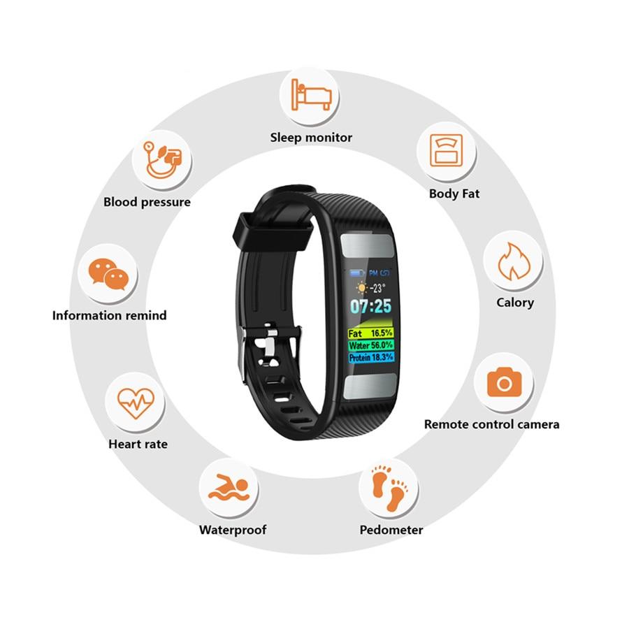 [해외]New Smart wristband fitness tracker OLED Sport Smart band PPG+ECG Body fat bracelet For IOS 안드로이드/New Smart wristband fitness tracker OLED Sport S