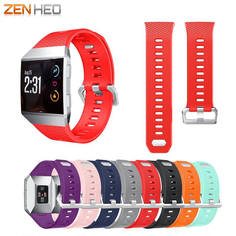 [해외]ZENHEO Fitbit 이오니아 손목 밴드 스포츠 실리콘 Easyfit 교체 손목 스트랩에 대 한 Fitbit 이오니아 팔찌에 대 한 시계 밴드 스트랩/ZENHEO Watch Band Strap For Fitbit Ionic Wrist Band Sports S